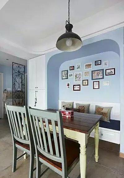 嘉年华装饰 金地格林 东郡 二居室 98平 地中海 餐厅图片来自武汉嘉年华装饰在金地格林东郡样板房的分享