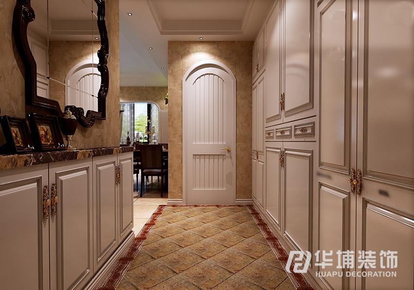 美式 乡村 二居 80后 玄关 玄关图片来自上海华埔装饰-laird在奥兰花园89美式乡村温馨风的分享