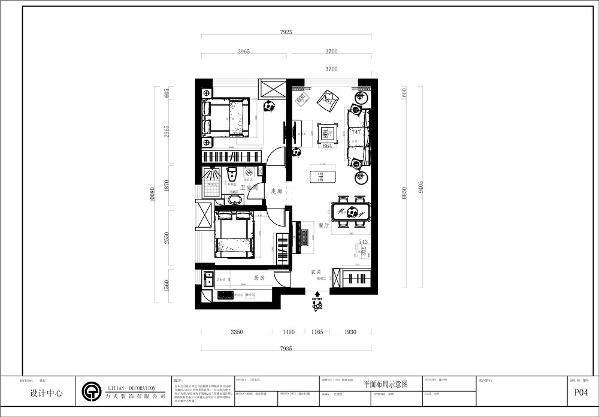 入户门左侧是厨房,入户门直走是餐厅以及客厅,非常的通畅,在餐厅对面有一个小的走廊,走廊的左右侧分别是主次卧,这个设计也是很合理的。