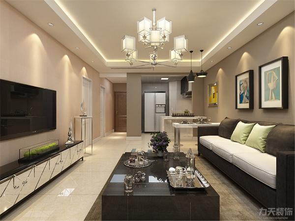 本案为河西昆仑中心一室两厅一厨一卫80㎡户型,本案定义为现代简约风格。如今,现代简约风格成为家居设计的一种风尚。