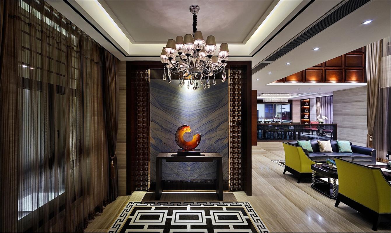 新中式 别墅 玄关图片来自张勇高级室内设计师在凯德麓语新中式精品设计案例效果的分享