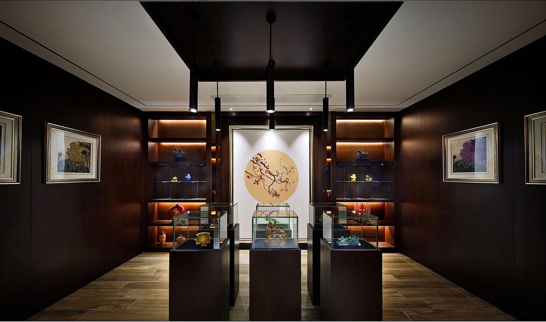 新中式 别墅 书房图片来自张勇高级室内设计师在凯德麓语新中式精品设计案例效果的分享