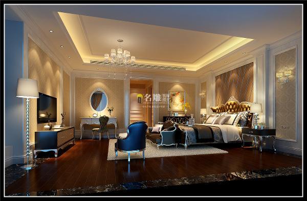 博林天瑞五居室欧式风格装修设计:摒弃传统欧式繁杂线条,定位简欧风格,精心挑选家具与灯饰,让整个空间大气舒适,设计充分体现对典雅生活方式感到向往。