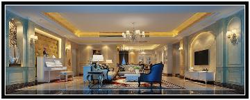 博林天瑞五居室欧式风格装修设计