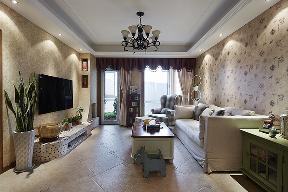 田园 自然 舒适 客厅图片来自北京合建高东雪在130平三室两厅田园风的分享
