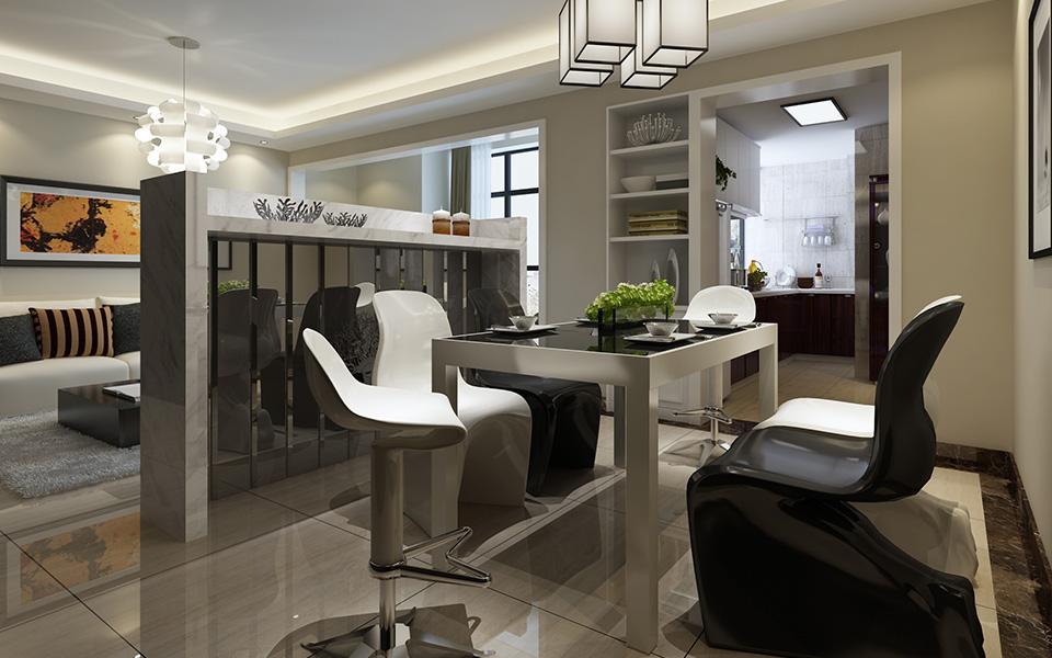 简约 现代 三居 装修 家装 三房两厅 餐厅图片来自壹品装饰在南庭城果的分享