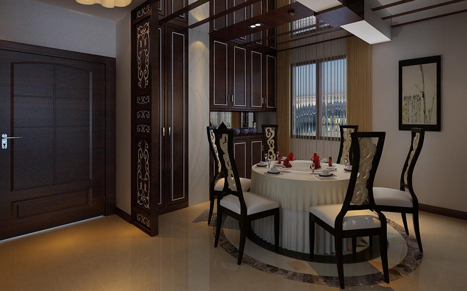 装修 家装 四居室 中式 现代 古典 餐厅图片来自壹品装饰在湘江世纪城的分享