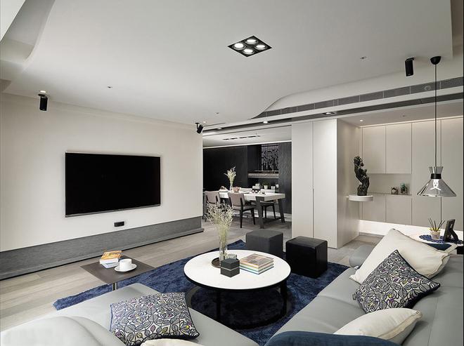 简约 三居 黑白 唯美 客厅图片来自rongzhimei在黑白唯美的分享