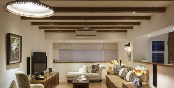 空间线条简约,透过格栅天花与软装的搭配,让风格真实到位,打造舒心美居。