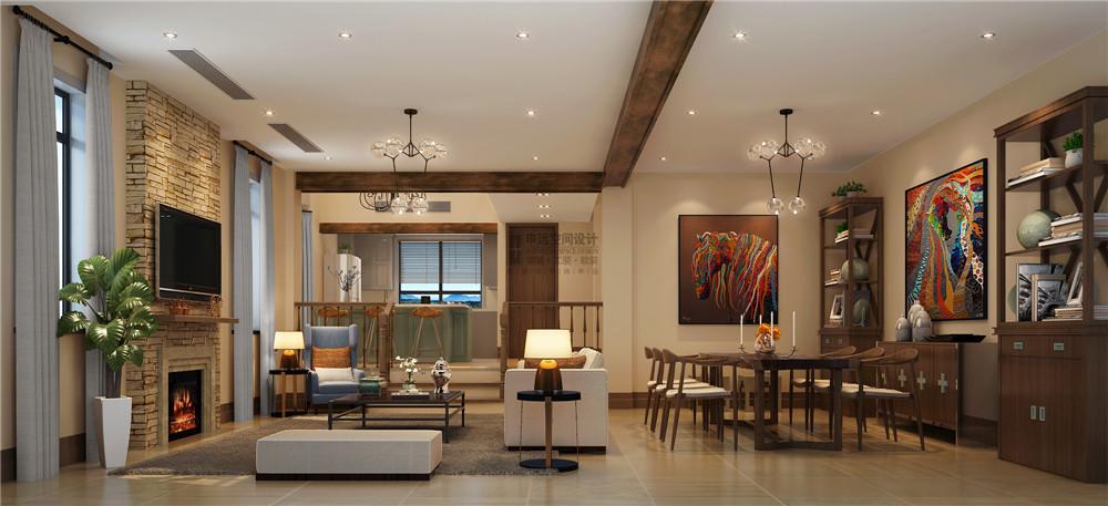 长泰东郊 申远设计 别墅 装修 美式 收纳 客厅图片来自申远-小申在长泰东郊    清新美式风的分享