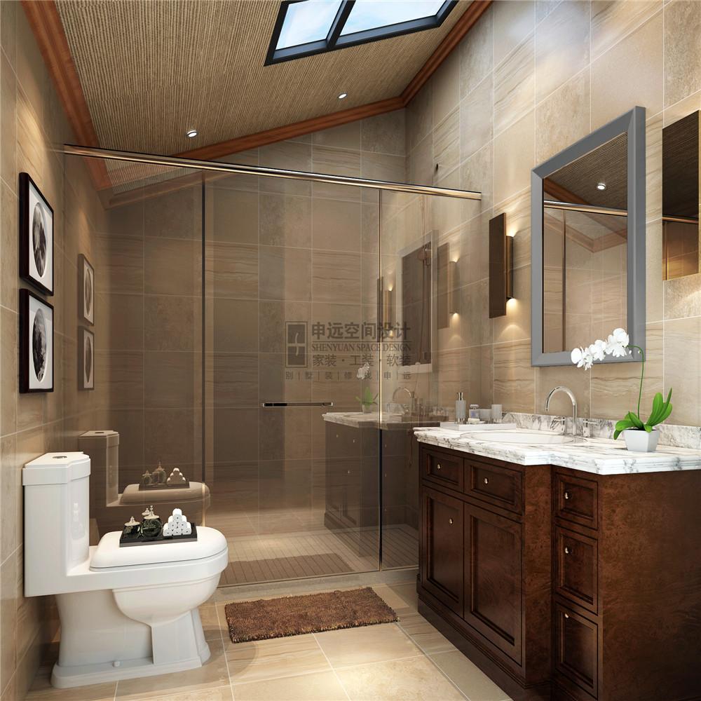 长泰东郊 申远设计 别墅 装修 美式 收纳 卫生间图片来自申远-小申在长泰东郊    清新美式风的分享