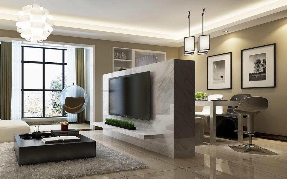简约 现代 三居 装修 家装 三房两厅 客厅图片来自壹品装饰在南庭城果的分享