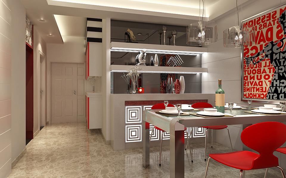 装修 装饰 家装 三居 现代 风格 餐厅图片来自壹品装饰在城市星空的分享