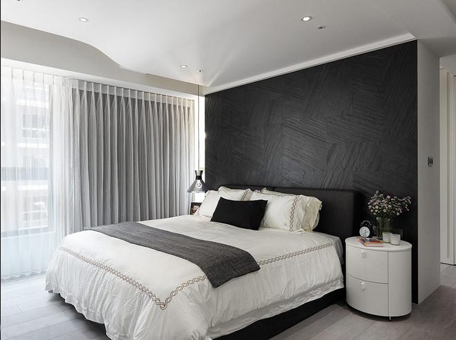 简约 三居 黑白 唯美 卧室图片来自rongzhimei在黑白唯美的分享