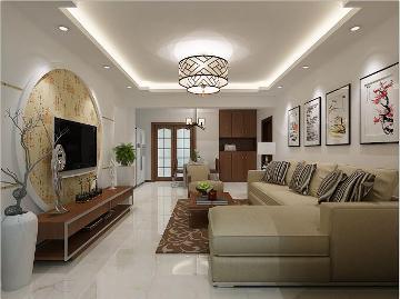 80平米简约中式风格家装设计