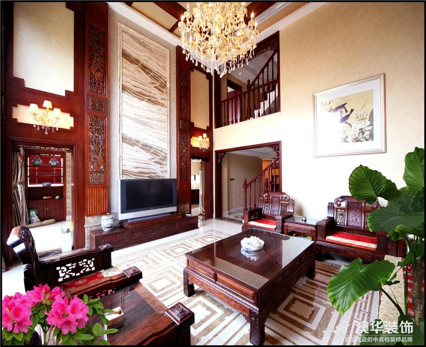 混搭 别墅 客厅图片来自澳华装饰-杨敏在穿越的空间的分享