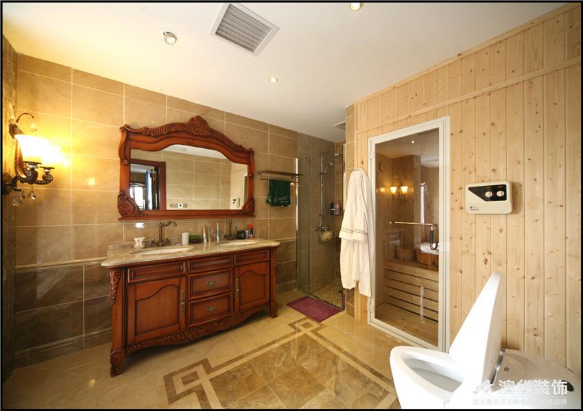 混搭 别墅 卫生间图片来自澳华装饰-杨敏在穿越的空间的分享