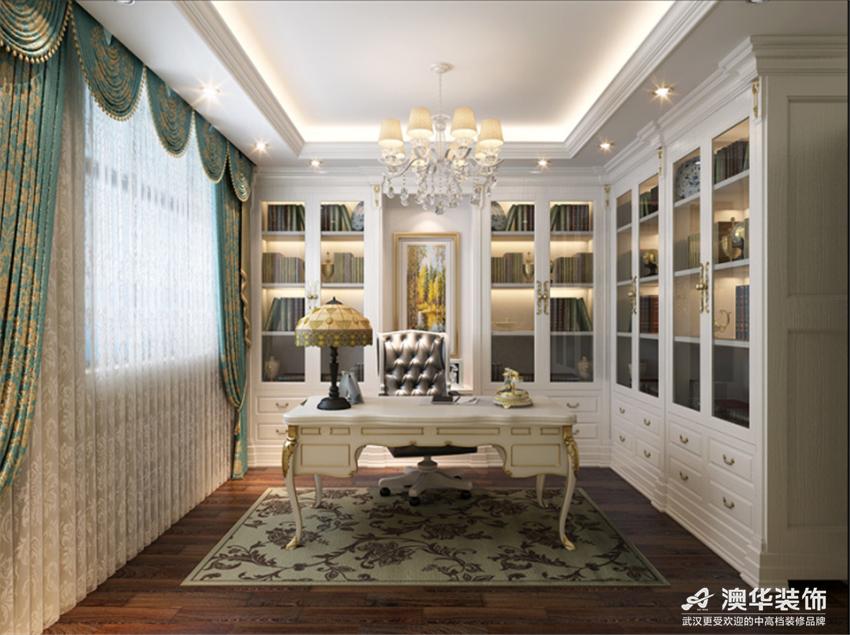 欧式 别墅 书房图片来自澳华会所-杨敏在精致细腻欧式风的分享