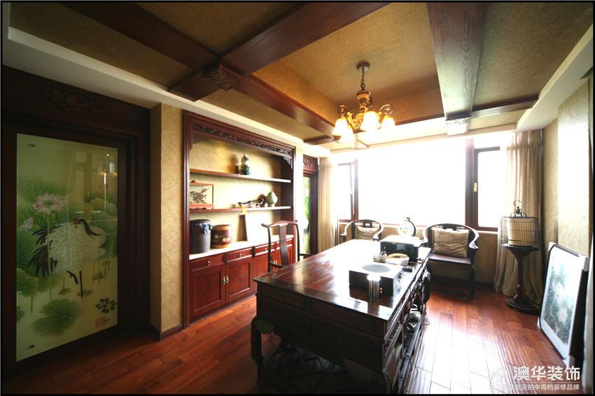 混搭 别墅 书房图片来自澳华装饰-杨敏在穿越的空间的分享