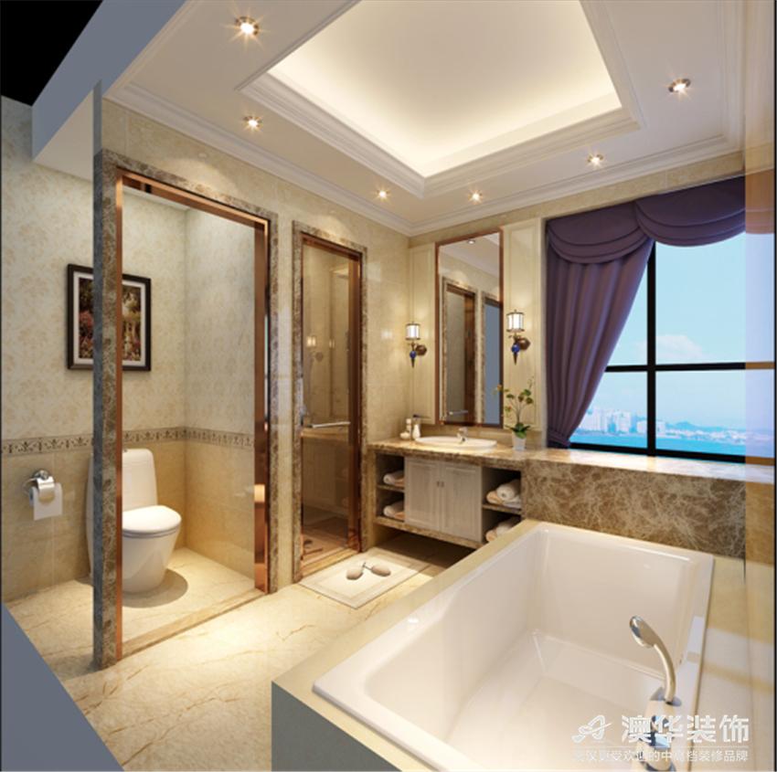 欧式 别墅 卫生间图片来自澳华会所-杨敏在精致细腻欧式风的分享