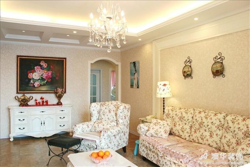 田园 别墅 客厅图片来自澳华装饰-杨敏在欧式田园小清新的分享