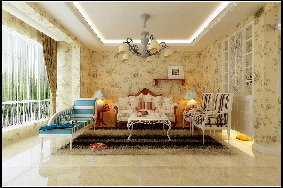 三居 田园风格 信达尚城 客厅图片来自百家设计小刘在信达尚城138平田园风格半包5万的分享