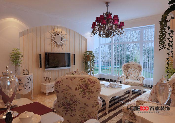 田园 三居 白领 80后 小资 客厅图片来自百家装饰-小敬在金地铂悦三居室田园风格的分享