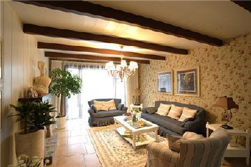 110平田园风格三居室家居设计