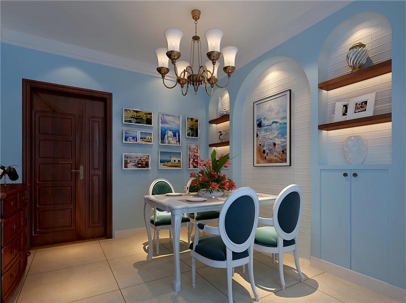 田园 二居 白领 收纳 80后 小资 餐厅图片来自实创装饰完美家装在K2清水湾99平田园风格案例赏析的分享
