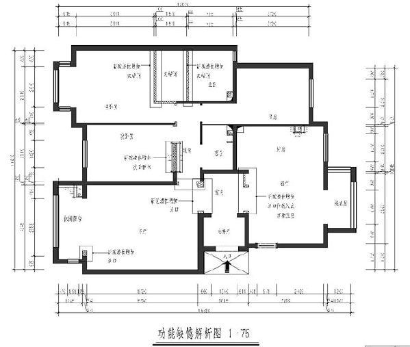 润泽悦溪(126平米)三居室户型功能缺陷解析图
