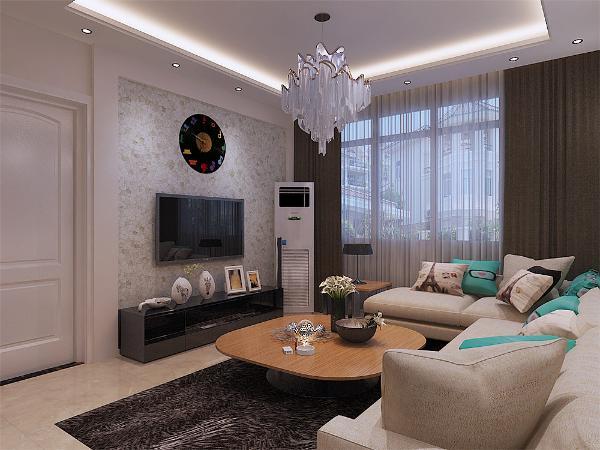 客厅与餐厅是整个在一个空间的格局,沙发背景墙采用了石材作为装饰,使整个家庭色调精彩。沙发墙运用壁纸配合照片墙的表现形式和各种装饰的表现形式,更加彰显业主的品味与内涵。