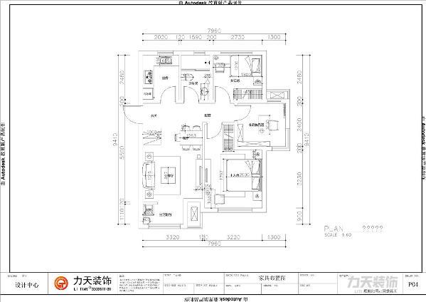 从入户门进入左手边是玄关的位置,玄关的右手边是客厅的位置,客厅的整体家具都是靠墙放置,餐厅在客厅的左上侧,在玄关的对面,南北通透,通风采光好。