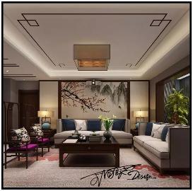 中海雍河古朴温馨的新中式风格