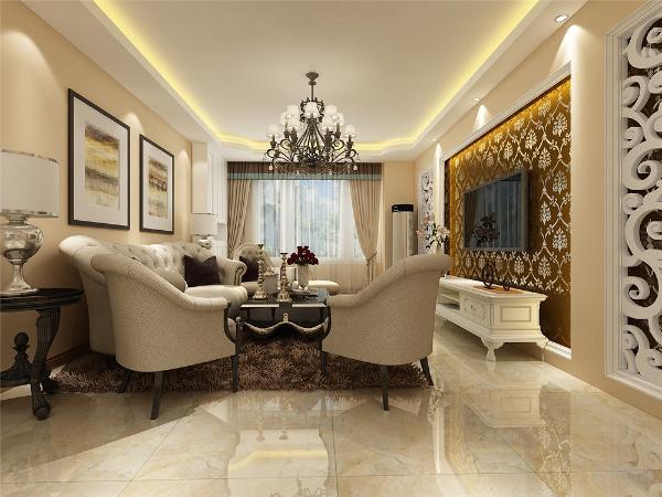 本案风格定义为简欧风格,简欧的装修要求只要有一些欧式装修的符合在里面就可以,因此,它其实是兼容性非常强的设计,如果把家具换掉,可以瞬间变成现代风格,也可以变成中式风格,总之能做到空间的千变万化。