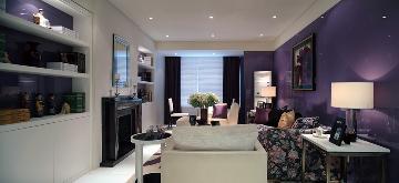 紫色为主的简约风格
