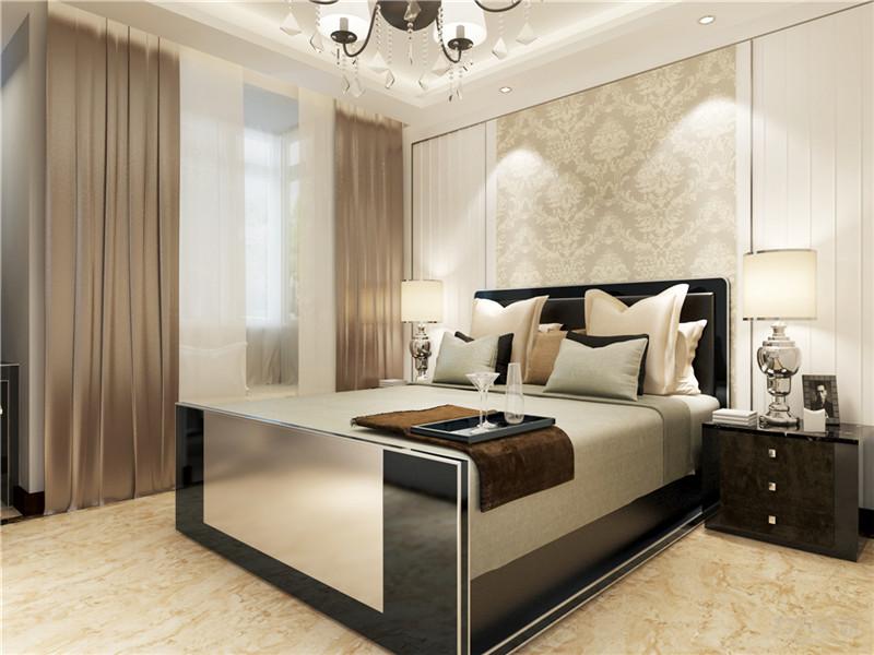 新古典 一室 收纳 小资 80后 床 壁纸 灯具 卧室图片来自阳光放扉er在力天装饰-昆仑中心86㎡的分享