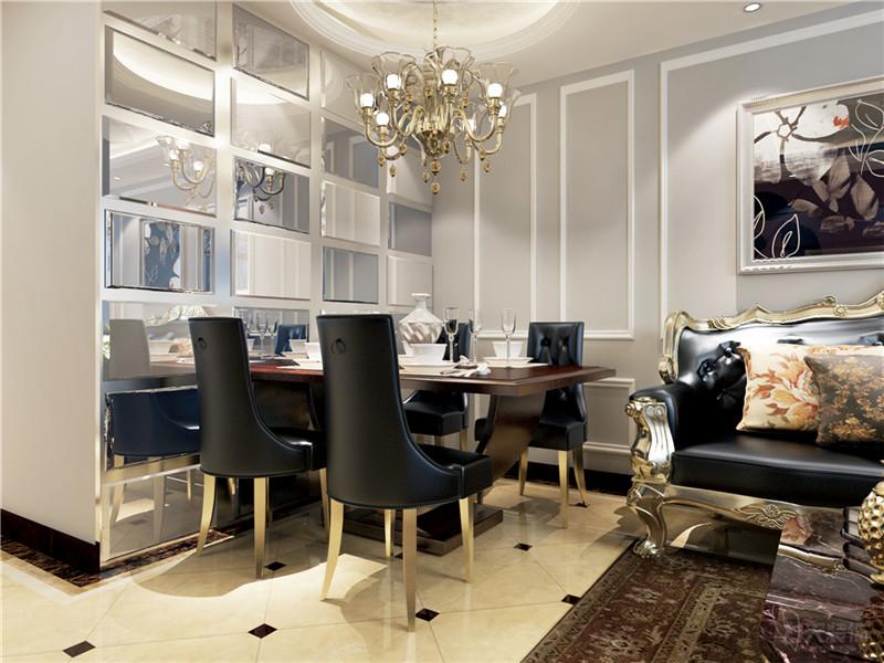 新古典 一室 收纳 小资 80后 酒柜 餐桌 餐厅图片来自阳光放扉er在力天装饰-昆仑中心86㎡的分享