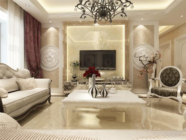 欧式客厅非常需要用家具和软装饰来营造整体效果,温馨的皮质沙发,是欧式客厅里的主角。