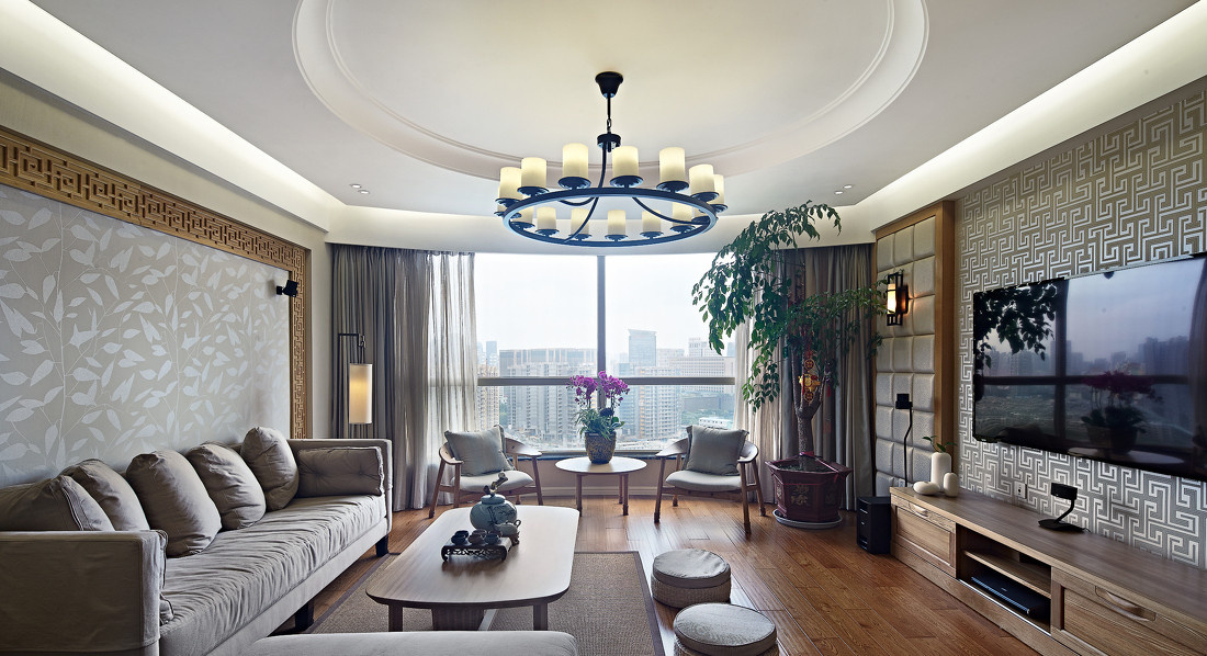 客厅图片来自二十四城装饰重庆分公司在南方玫瑰城-4的分享