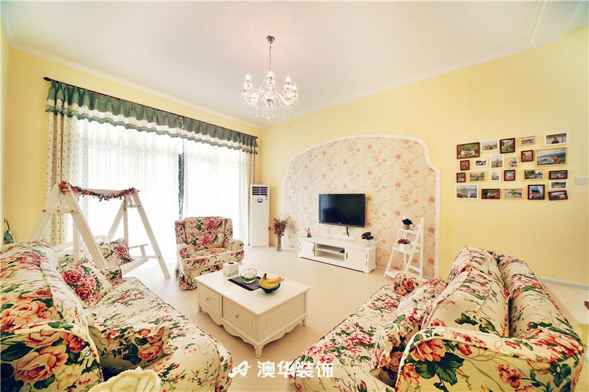 客厅图片来自澳华装饰-郭蕾在恒大金碧天下--地中海的浪漫月光的分享