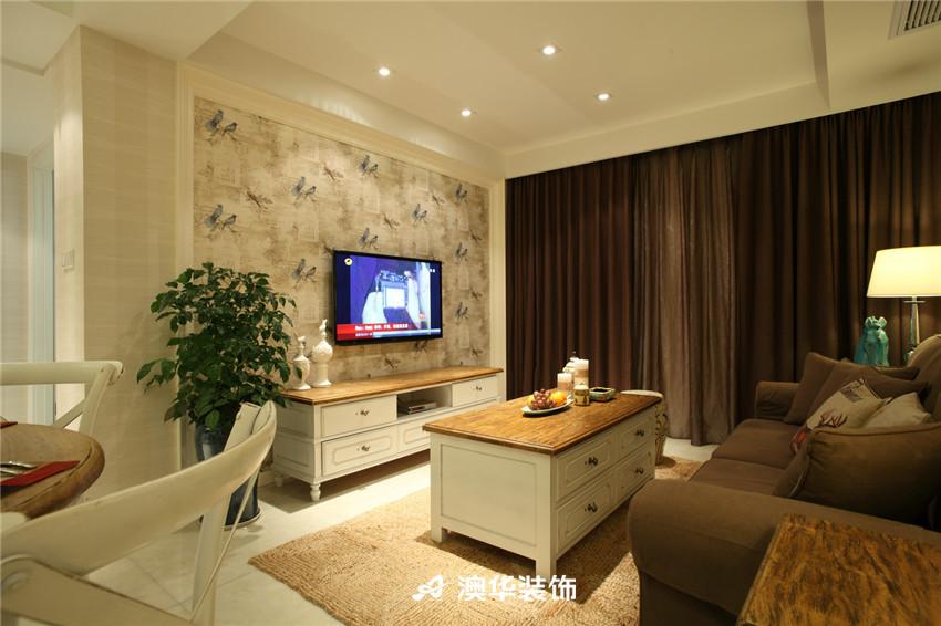 客厅图片来自澳华装饰-潘慧在东湖壹号--清新简美,自在芳华的分享