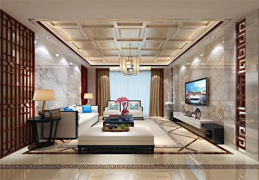 四室 中式 客厅图片来自日升装饰公司在尚品美地城中式四居的分享
