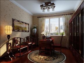 三居 新古典 80后 小资 书房图片来自日升装饰公司在国色天香133平三居新古典风的分享