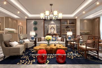 中洲阳光新中式风格-逸阁