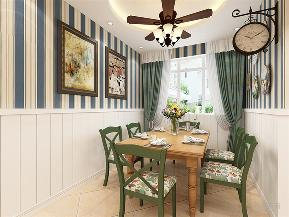 田园 二居 小清新 白领 小资 80后 壁纸 吊灯 餐桌 餐厅图片来自阳光力天装饰在力天装饰-奥莱城-96㎡的分享