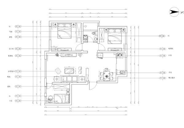 福林雅苑三室两厅一厨一卫104㎡。由于考虑到户型采光的问题将部分轻体墙进行拆改。