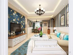 田园 二居 小清新 白领 小资 80后 沙发 茶几 吊灯 客厅图片来自阳光力天装饰在力天装饰-奥莱城-96㎡的分享