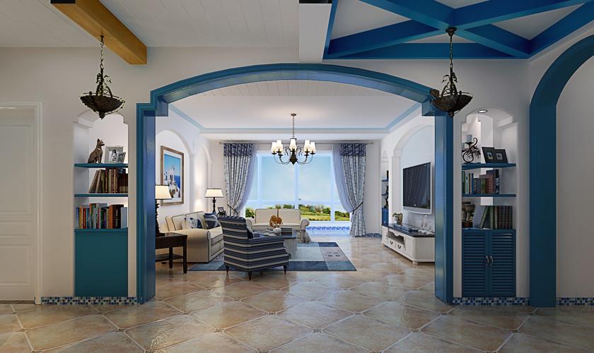 地中海 婚房 客厅图片来自玉玲珑装饰在地中海风格的分享