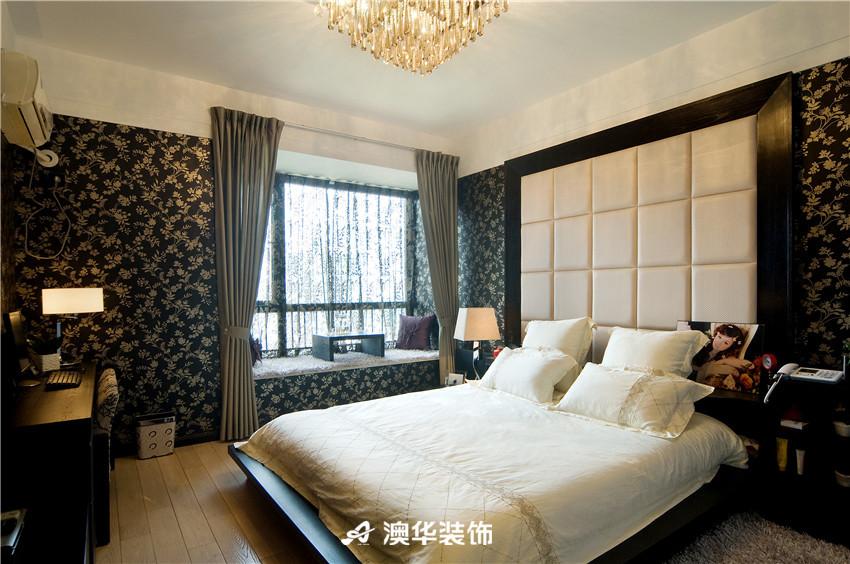 简约 现代 三居 收纳 80后 卧室图片来自澳华装饰-郭蕾在香榭琴台--简约现代,中性之美的分享