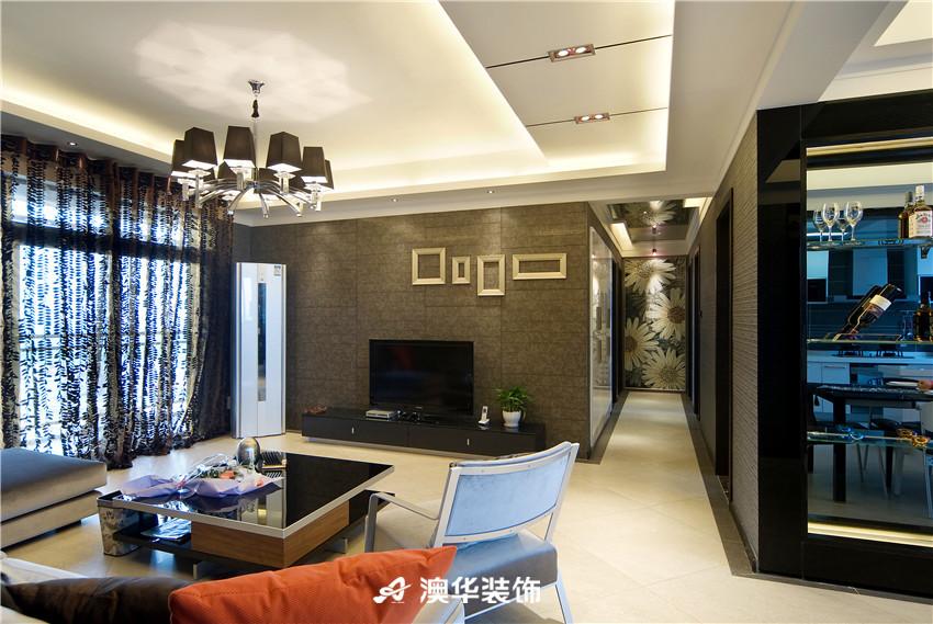 简约 现代 三居 收纳 80后 客厅图片来自澳华装饰-郭蕾在香榭琴台--简约现代,中性之美的分享